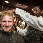 November 8, 2014. Team Vestas Wind's youngest guys get a shave, a haircut and quite an experience at a local barber shop in Cape Town.